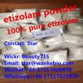 research chemicals shop online selling 99% white pure etizolam powder, higt-effect etizolam sample w